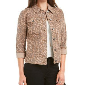 Style & Co. Leopard Print Denim Jeans Jacket